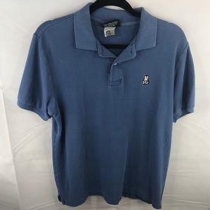 Psycho Bunny Blue Polo Shirt 4 Small S